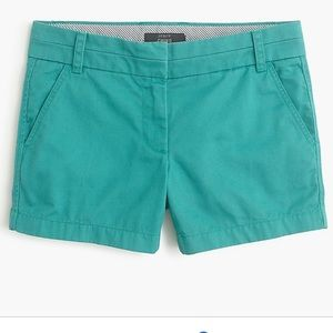 J Crew chino shorts in GUC. Size 2. Teal color